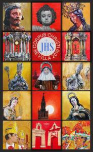 El cartel del Corpus Christi de 2019 recrea las cubiertas de la Catedral y está firmado por 14 artistas