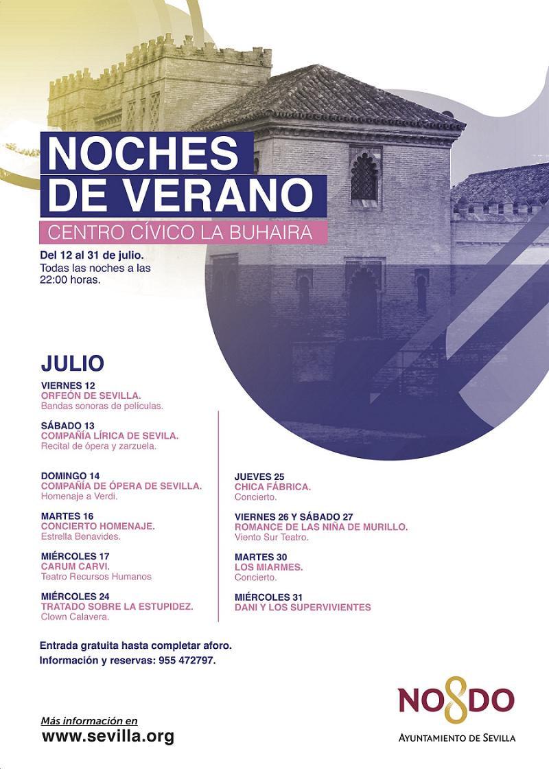 11 funciones de teatro y música para el ciclo de 'Noches de Verano en el Palacio de la Buhaira'