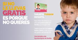 Casi 12.000 menores se benefician en menos de un año de la tarjeta infantil gratuita de Tussam