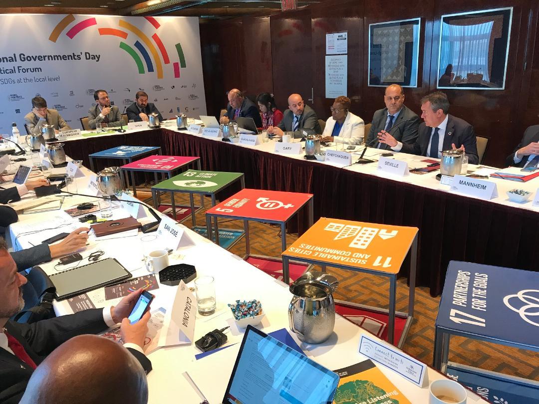 """Espadas pide en la ONU financiación para que los ayuntamientos puedan """"acelerar"""" el cumplimiento de los Objetivos de Desarrollo Sostenible"""