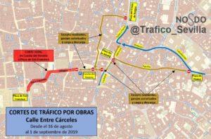 Obras en el adoquinado de distintas vías del centro obligan a cortar el tráfico