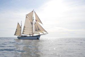 El velero suizo Fleur de Passion vuelve a Sevilla tras los pasos de Elcano