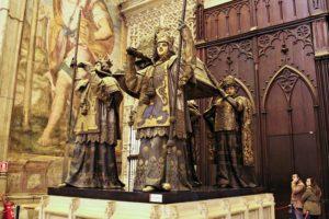 El Mausoleo de Colón se pone a punto para el Día de la Hispanidad
