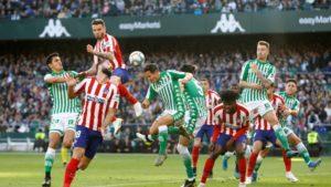 El Betis despide el año con una derrota ante el Atlético