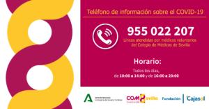 Médicos y Cajasol habilitan un teléfono de información sobre el COVID-19
