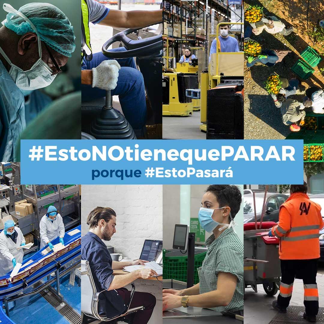 Los empresarios de Sevilla se suman a la campaña #EstoNOtienequePARAR