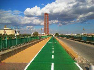 El puente de la Señorita, entre Sevilla y Camas, será sólo para transporte público y vehículos con más de 1 ocupante