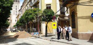 La calle Abades también se renueva