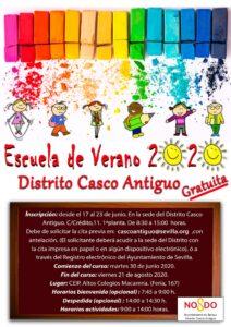 Abierto el plazo para las 360 plazas de las Escuelas de Verano del Distrito Casco Antiguo