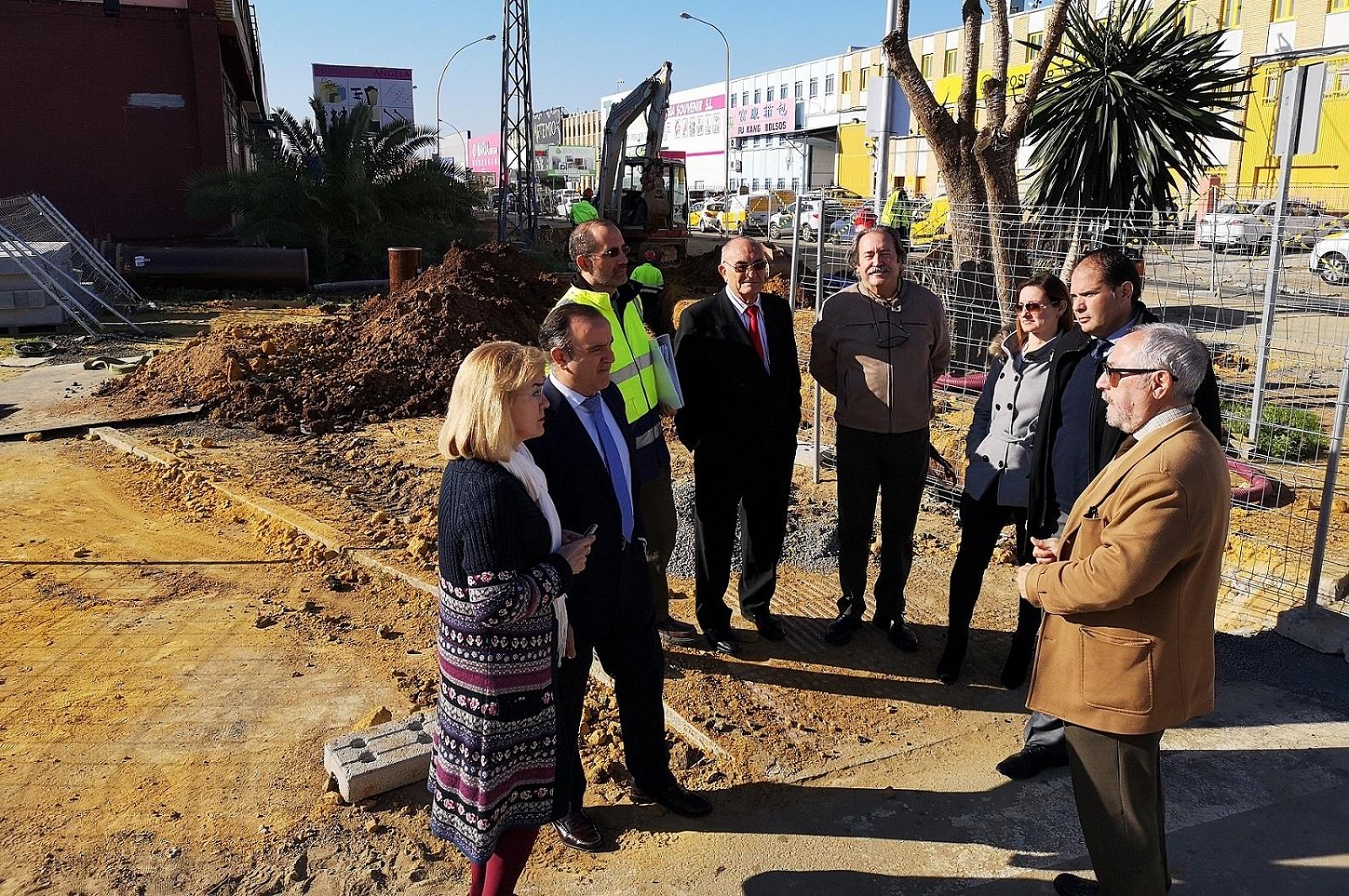Reurbanización de la entrada del parque empresarial Carretera Amarilla