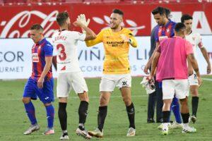 Ocampos, protagonista de la victoria sevillista frente al Eibar