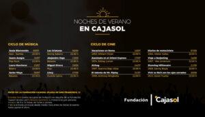 Música y cine gratis en las Noches de Verano en Cajasol