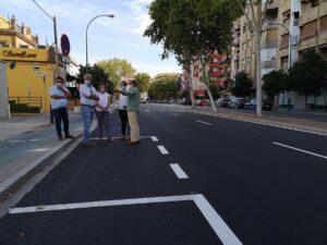 Finaliza la pavimentación de la Avenida de la Cruz del Campo y comienza en la Gran Plaza