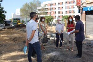 Obras de reurbanización en la Avenida Alcalde Manuel del Valle