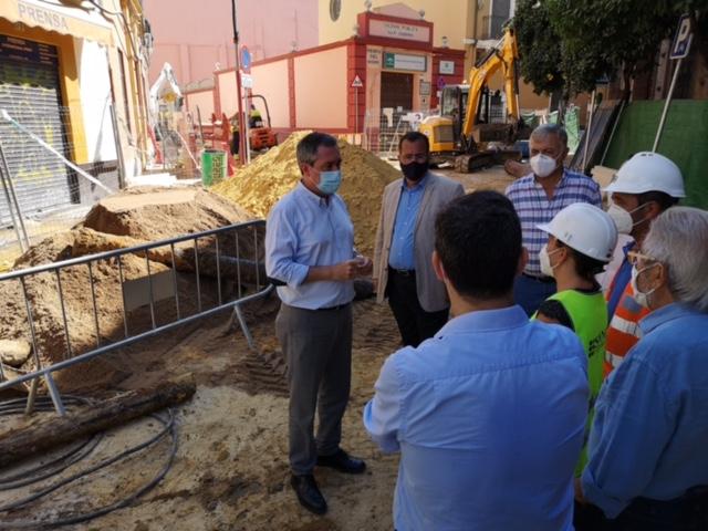 Avanzan las obras de reurbanización de Mateos Gago