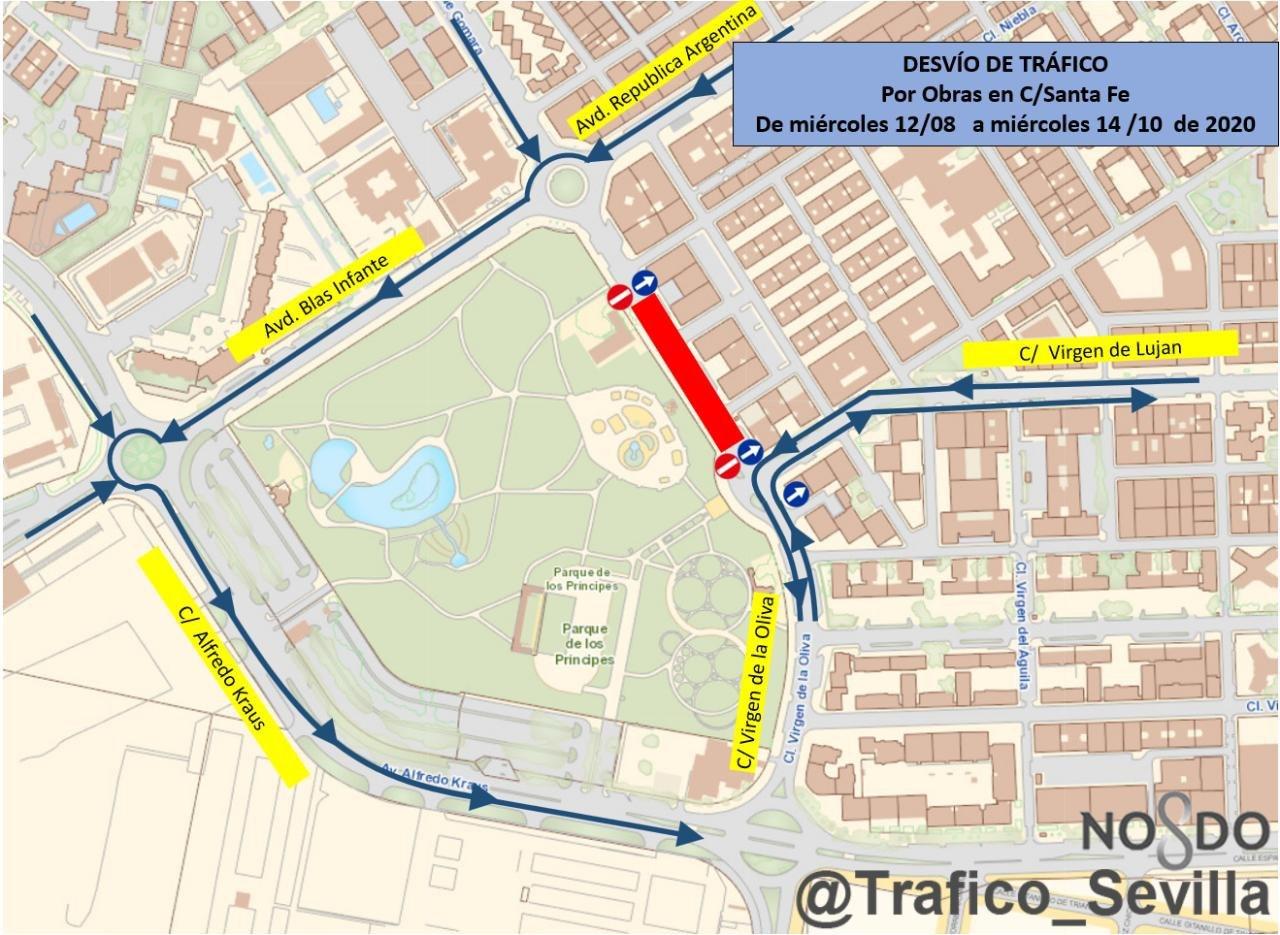 Obras de urgencia para la sustitución integral del colector de las calles Santa Fe y Virgen de la Oliva