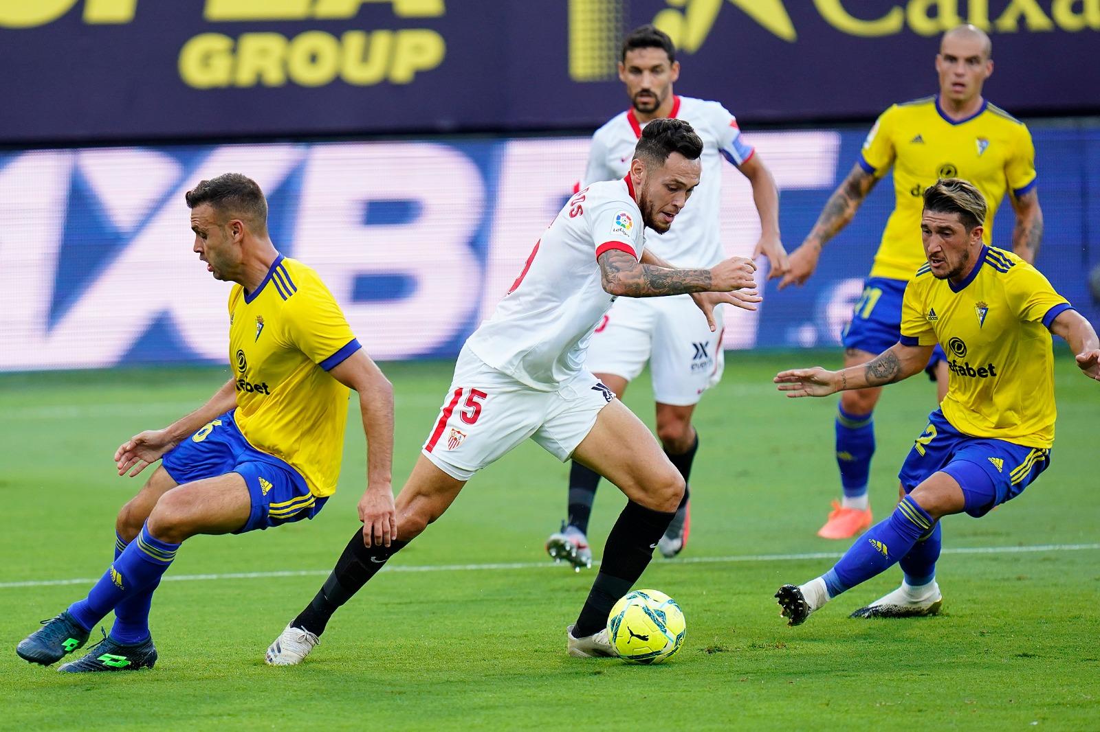 El Sevilla FC debuta en la Liga con victoria en Cádiz