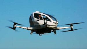 eHang, el «taxi volador», llega a Sevilla