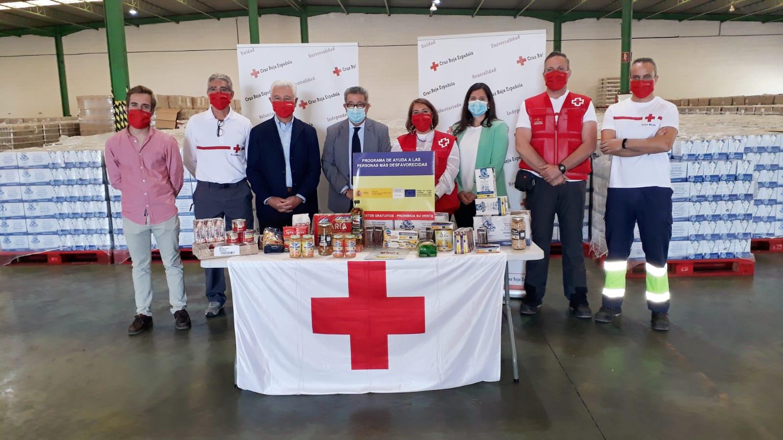 Cruz Roja y Banco de Alimentos distribuirán 1,53 millones de kilos de alimentos del programa de ayuda del Gobierno
