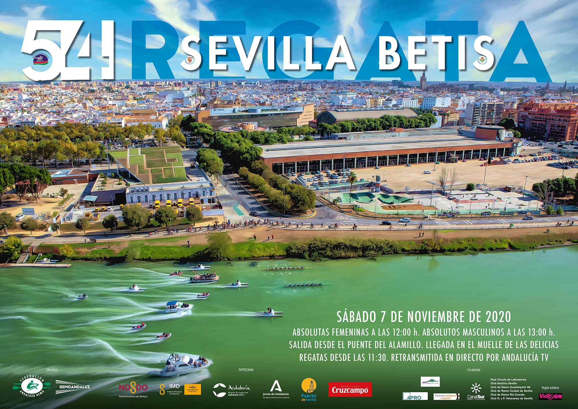 El Río Guadalquivir acoge la 54º edición de la regata Sevilla-Betis el próximo 7 de noviembre