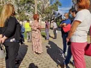 Vallado para más de 20 espacios libres ajardinados en Este-Alcosa-Torreblanca tras la petición vecinal