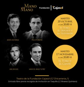 """Vuelven los """"Mano a Mano"""" de la Fundación Cajasol: """"Toros y deporte"""" y """"Toreo y cante"""""""