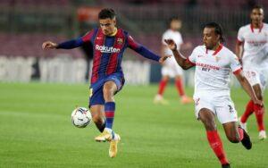 Un gran Sevilla FC se lleva un punto del Camp Nou