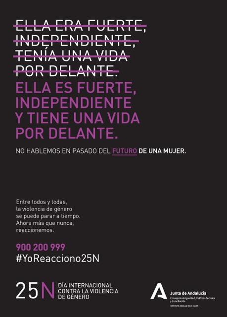La campaña del 25N de la Junta anima a reaccionar contra la violencia de género