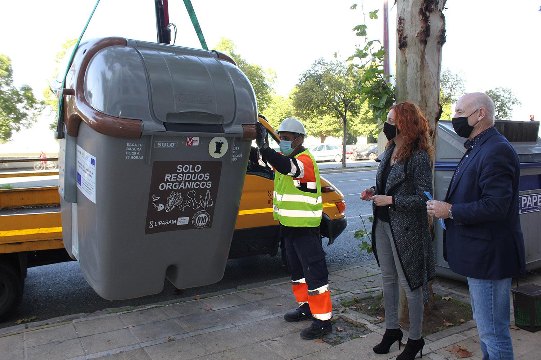 Siete zonas del distrito Macarena contaránn con el sistema de recogida de biorresiduos