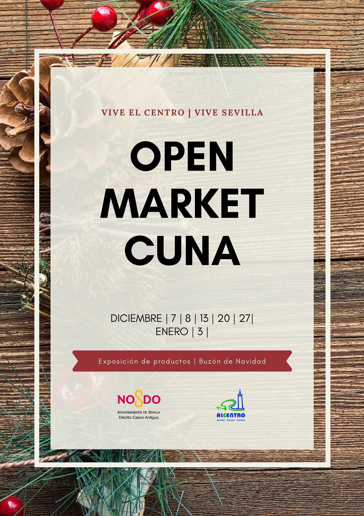 Mercadillo navideño 'Open Market Cuna' para apoyar al pequeño comercio del centro