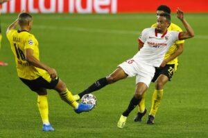 El Sevilla FC derrotado en la primera parte por el Dortmund