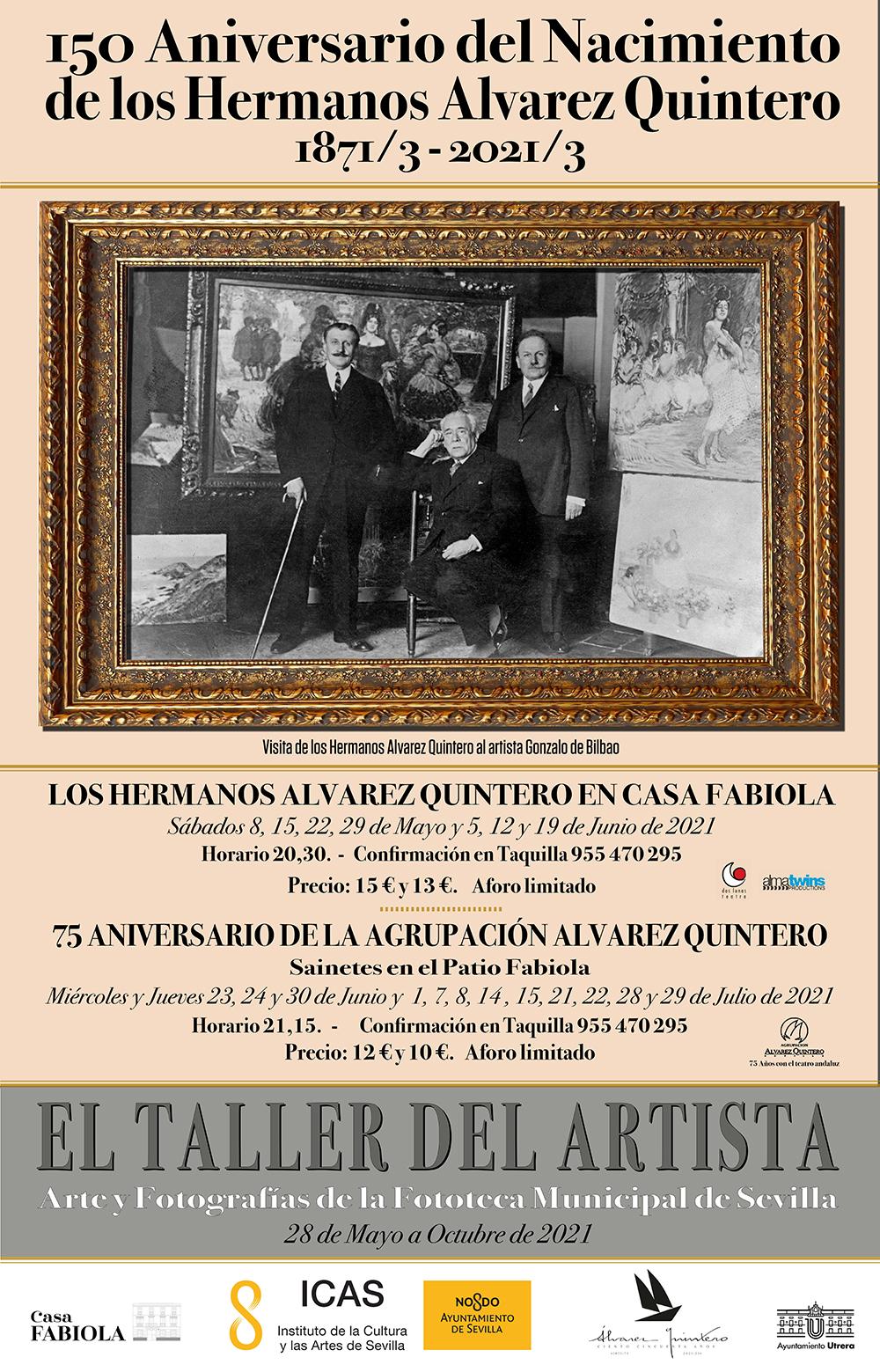 Casa Fabiola-Donación Mariano Bellver celebra el 150 Aniversario del nacimiento de los Hermanos Álvarez Quintero