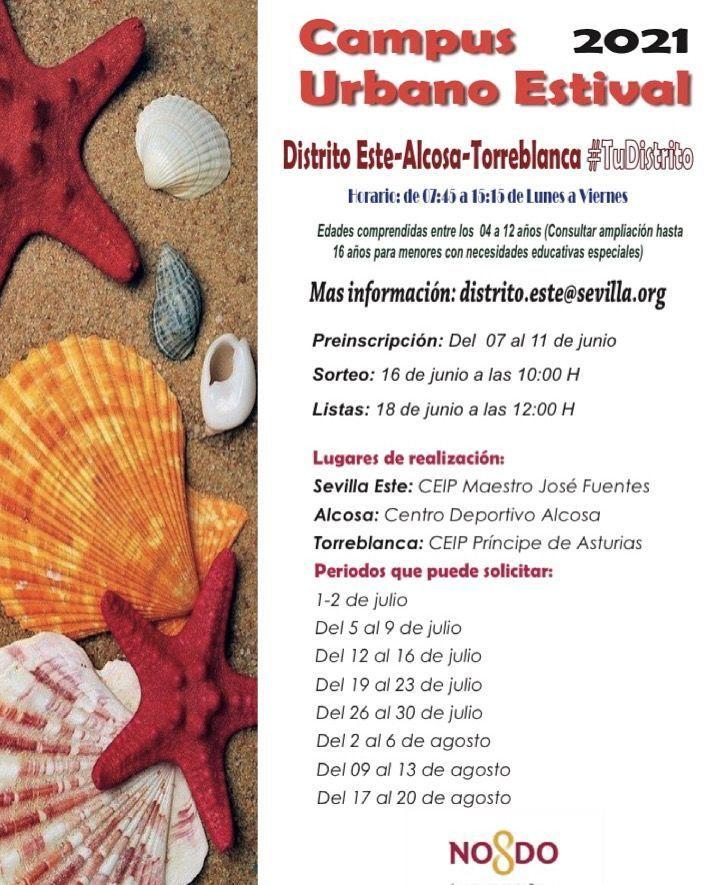 Este-Alcosa-Torreblanca y Sur abren sus plazos de inscripción para los campamentos de verano gratuitos de los distritos
